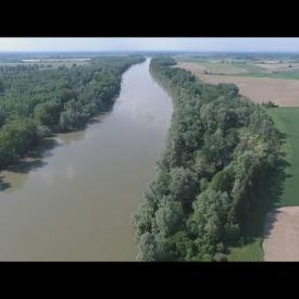 Embedded thumbnail for The Drava Plane from the sky (Drone view)